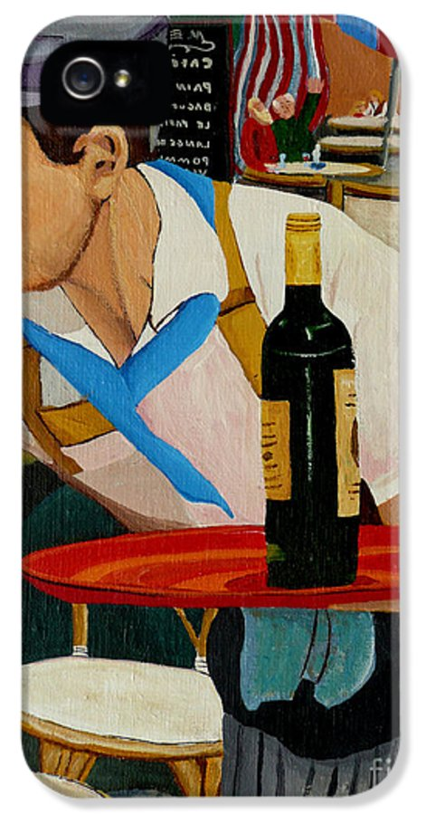 France IPhone 5 / 5s Case featuring the painting Chardonnay by Anthony Dunphy