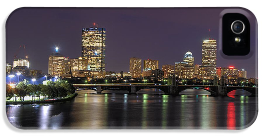 Boston IPhone 5 Case featuring the photograph Charles River Reflections - Boston by Joann Vitali