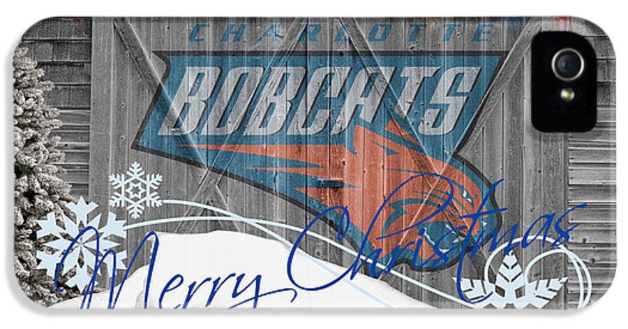 Bobcats IPhone 5 Case featuring the photograph Charlotte Bobcats by Joe Hamilton