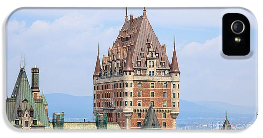 2013 IPhone 5 Case featuring the photograph Chateau Frontenac Quebec City Canada by Edward Fielding