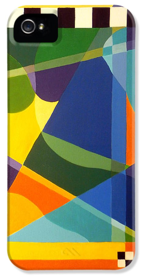 Abstract IPhone 5 Case featuring the painting Cheers by Karyn Robinson
