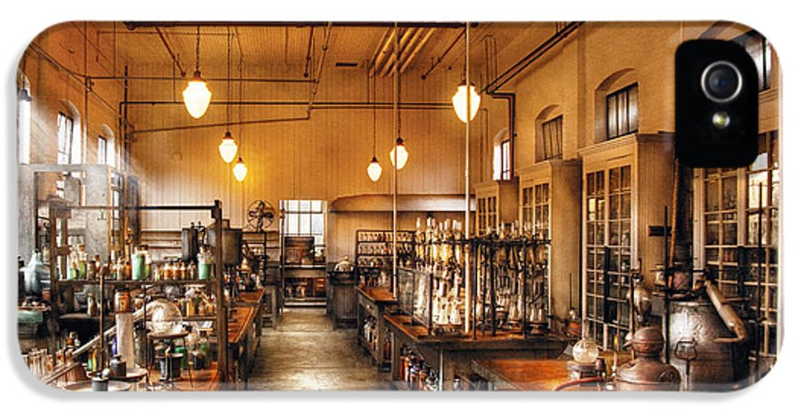 Savad IPhone 5 Case featuring the photograph Chemist - The Chem Lab by Mike Savad
