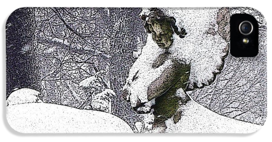 Snow IPhone 5 Case featuring the photograph Cherub Of The Blizzard by Teak Bird