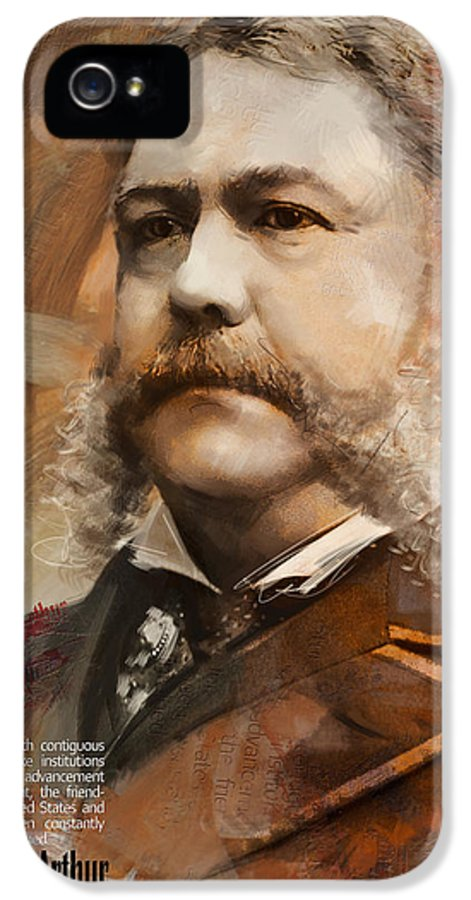 Chester A. Arthur IPhone 5 Case featuring the painting Chester A. Arthur by Corporate Art Task Force