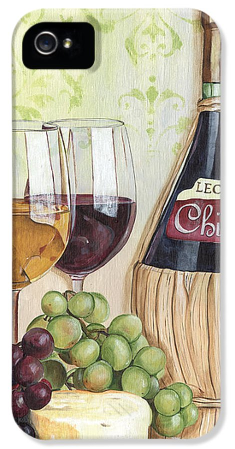 Wine IPhone 5 Case featuring the painting Chianti And Friends by Debbie DeWitt