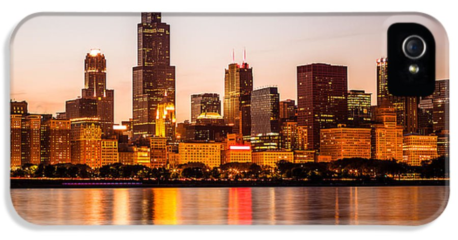 America IPhone 5 Case featuring the photograph Chicago Downtown City Lakefront With Willis-sears Tower by Paul Velgos