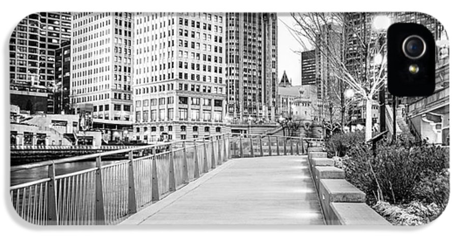 America IPhone 5 Case featuring the photograph Chicago Downtown City Riverwalk by Paul Velgos