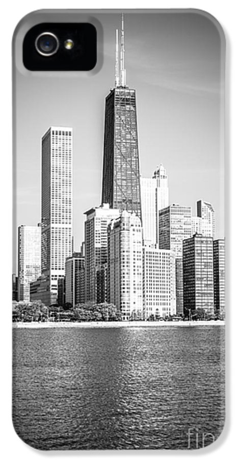 America IPhone 5 Case featuring the photograph Chicago Hancock Building Black And White Picture by Paul Velgos