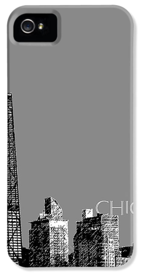 Architecture IPhone 5 / 5s Case featuring the digital art Chicago Hancock Building - Pewter by DB Artist