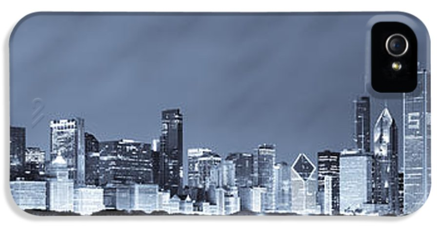 Chicago Skyline IPhone 5 Case featuring the photograph Chicago In Blue by Sebastian Musial
