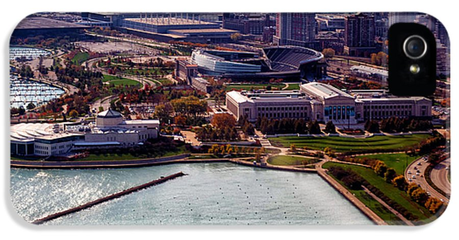 Football IPhone 5 Case featuring the photograph Chicago Museum Park by Thomas Woolworth
