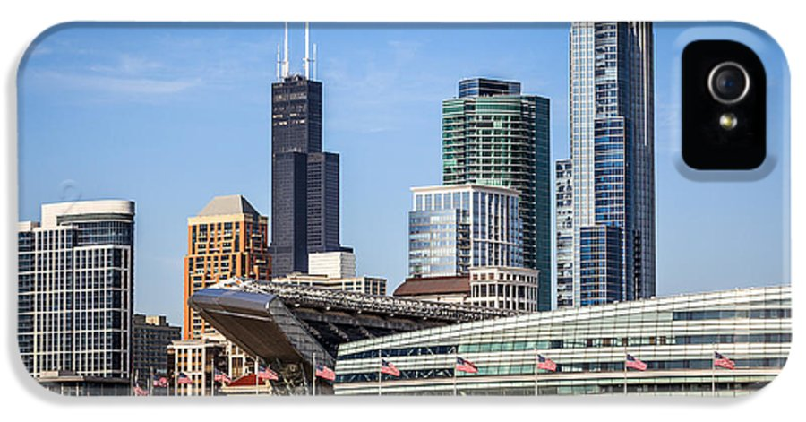 America IPhone 5 Case featuring the photograph Chicago Skyline With Soldier Field And Sears Tower by Paul Velgos