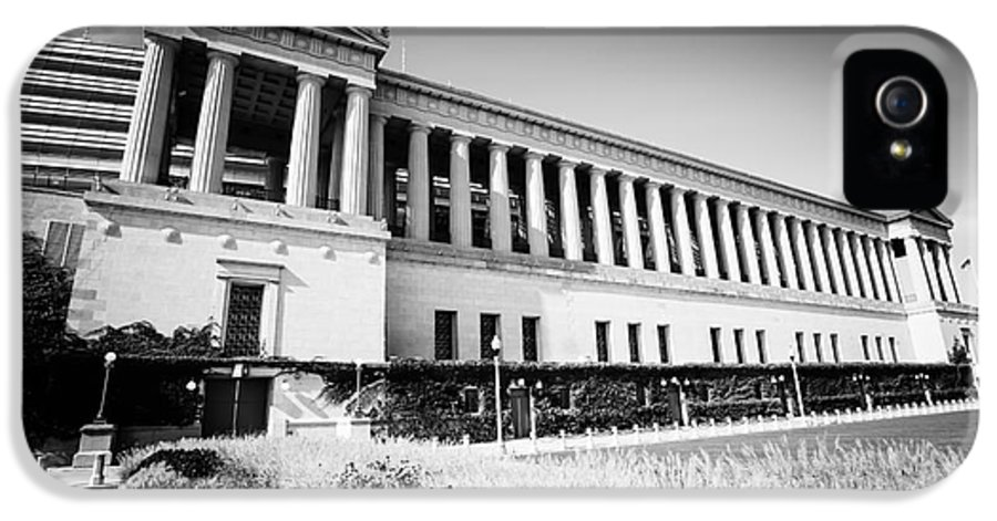 America IPhone 5 Case featuring the photograph Chicago Solider Field Black And White Picture by Paul Velgos