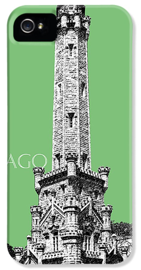 Architecture IPhone 5 Case featuring the digital art Chicago Water Tower - Apple by DB Artist