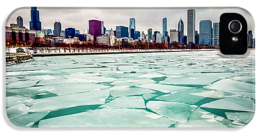 America IPhone 5 Case featuring the photograph Chicago Winter Skyline by Paul Velgos