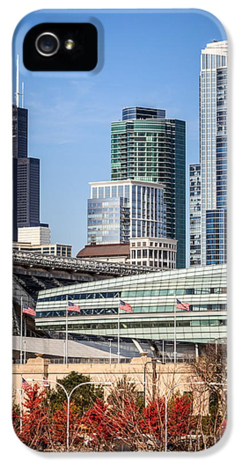 America IPhone 5 Case featuring the photograph Chicago With Soldier Field And Sears Tower by Paul Velgos