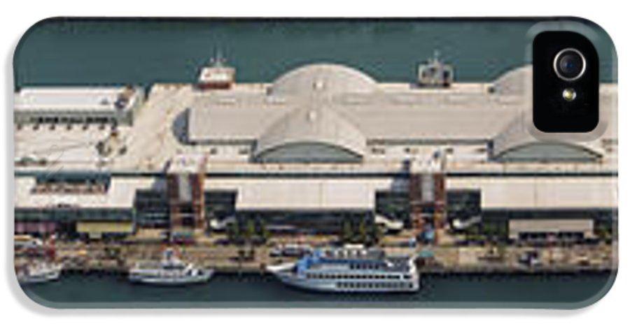 3scape Photos IPhone 5 Case featuring the photograph Chicago's Navy Pier Aerial Panoramic by Adam Romanowicz