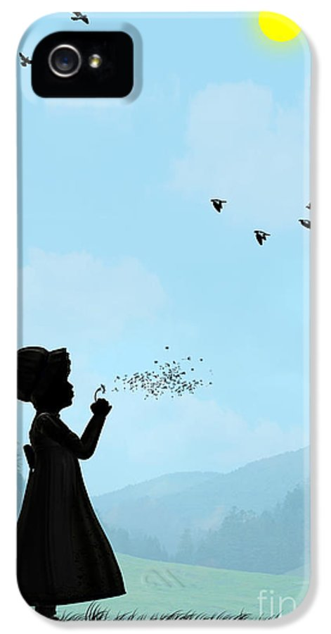 Childhood Memories IPhone 5 Case featuring the drawing Childhood Dreams One O Clock by John Edwards