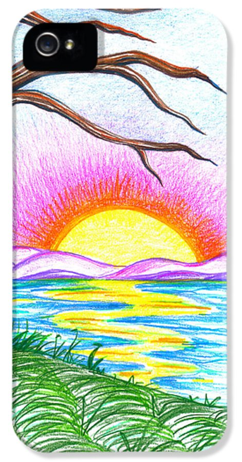 Landscape IPhone 5 Case featuring the drawing Childlike Wonder by Shawna Rowe