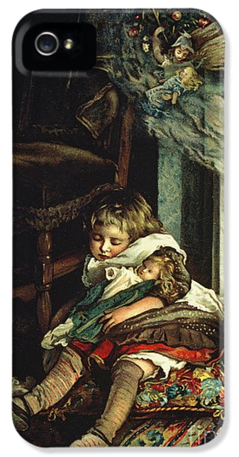 Book IPhone 5 Case featuring the painting Children Dreaming Of Toys by Lizzie Mack