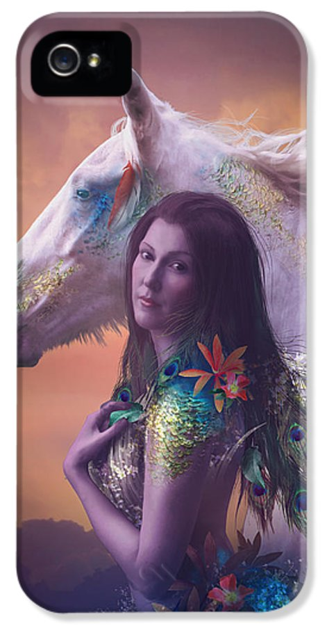 Fantasy IPhone 5 Case featuring the digital art Children Of Rihm by Cassiopeia Art