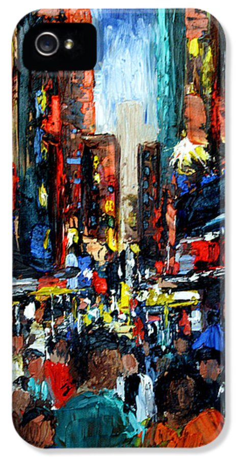 China Town Framed Prints IPhone 5 Case featuring the painting China Town by Anthony Falbo