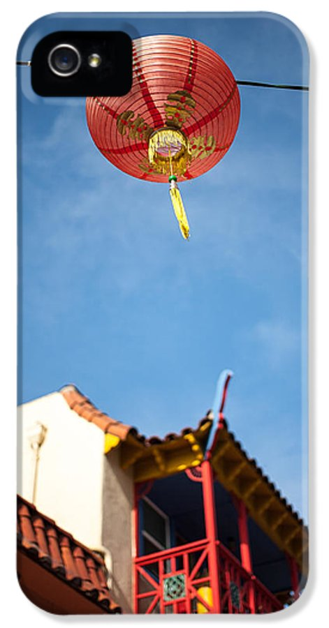 Buildings IPhone 5 Case featuring the photograph Chinese Lantern by Peter Tellone
