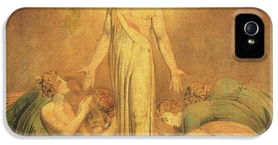 Romantic IPhone 5 Case featuring the painting Christ Appearing To The Apostles After The Resurrection by William Blake