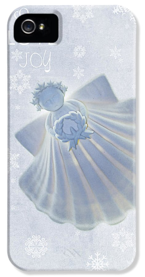 Angel IPhone 5 Case featuring the photograph Christmas Angel by Rebecca Cozart