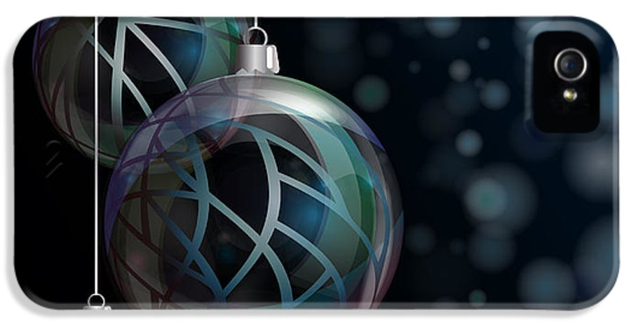 Abstract IPhone 5 Case featuring the photograph Christmas Elegant Glass Baubles by Jane Rix