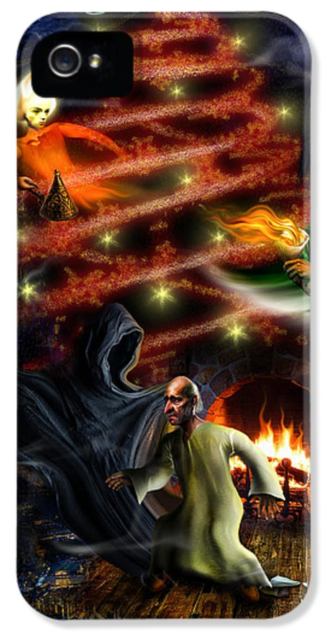 Christmas IPhone 5 Case featuring the digital art Christmas Greeting Card by Alessandro Della Pietra