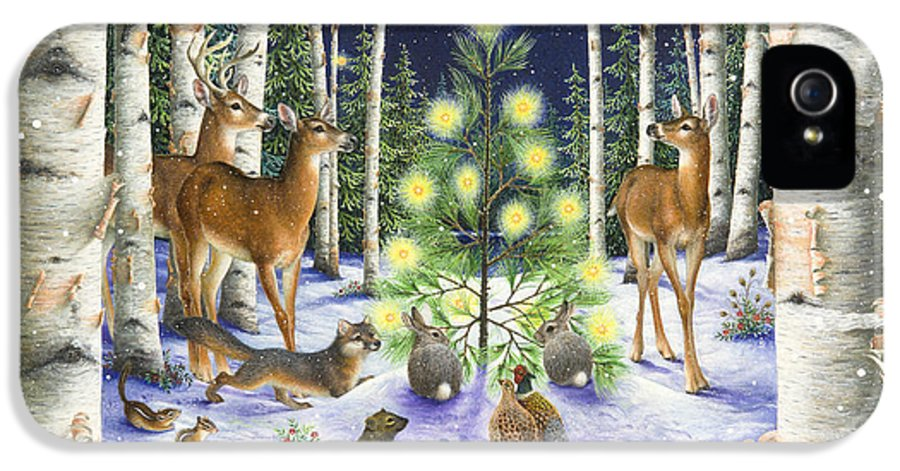 Christmas IPhone 5 Case featuring the painting Christmas Magic by Lynn Bywaters