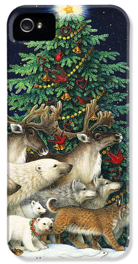 Christmas IPhone 5 Case featuring the painting Christmas Parade by Lynn Bywaters