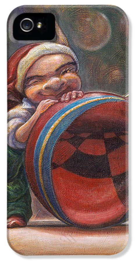 Leonard Filgate IPhone 5 Case featuring the painting Christmas Reflections by Leonard Filgate