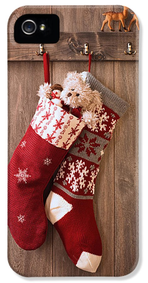 Christmas IPhone 5 Case featuring the photograph Christmas Stockings by Amanda Elwell