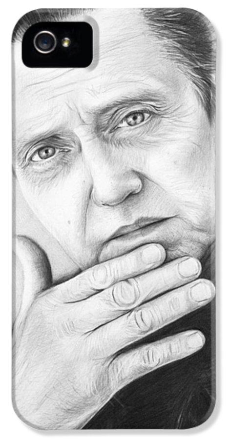Christopher Walken IPhone 5 Case featuring the drawing Christopher Walken by Olga Shvartsur