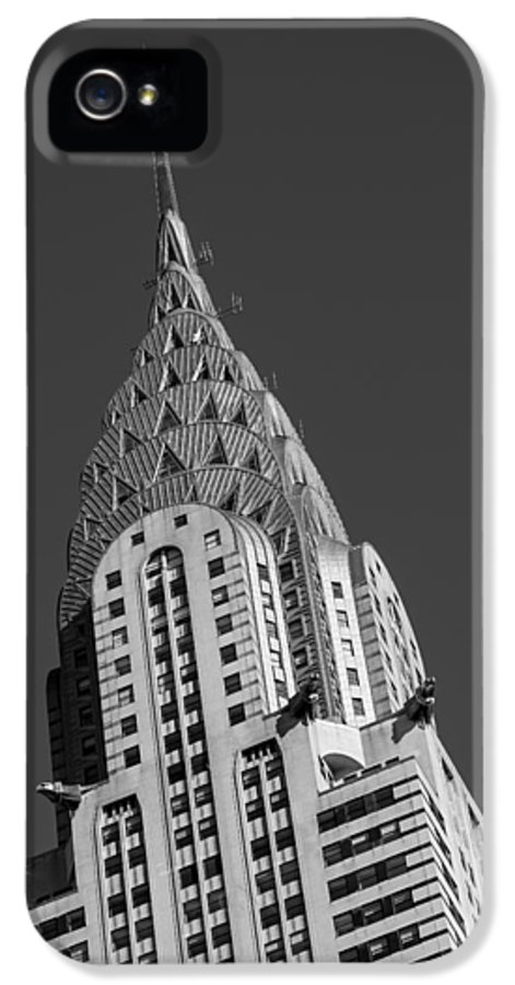 Chrysler Building IPhone 5 Case featuring the photograph Chrysler Building Bw by Susan Candelario