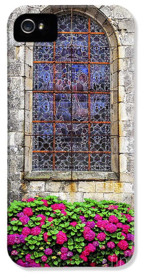 Old IPhone 5 / 5s Case featuring the photograph Church Window In Brittany by Elena Elisseeva