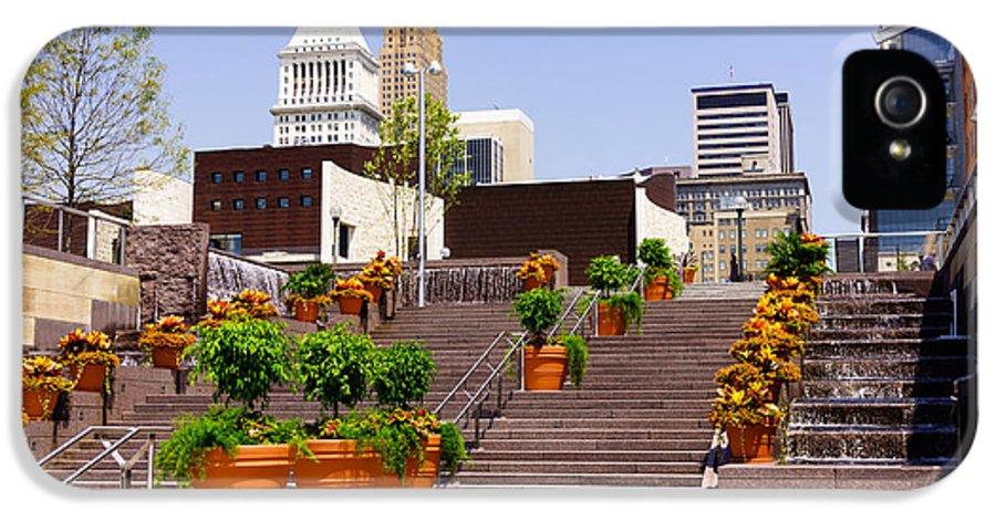 2012 IPhone 5 Case featuring the photograph Cincinnati Downtown Central Business District by Paul Velgos