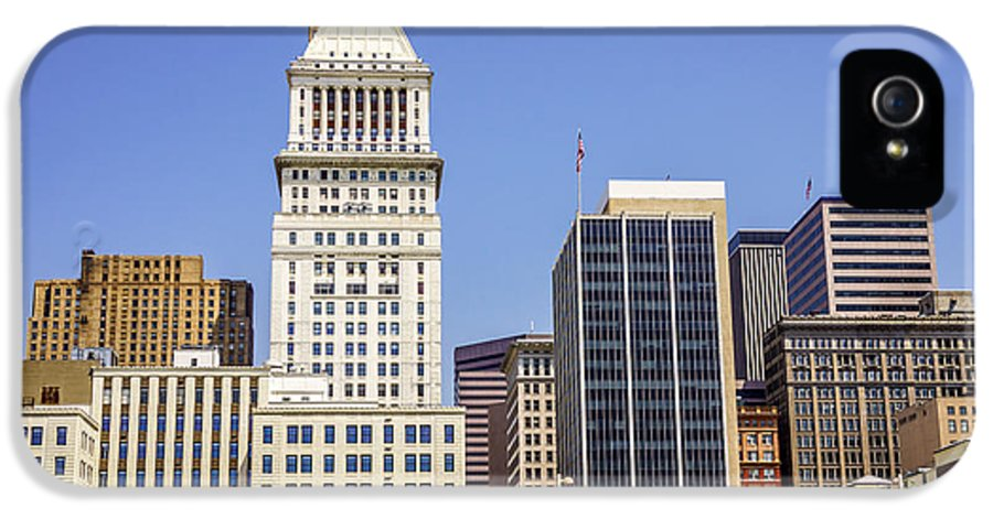 2012 IPhone 5 Case featuring the photograph Cincinnati Downtown City Buildings Business District by Paul Velgos
