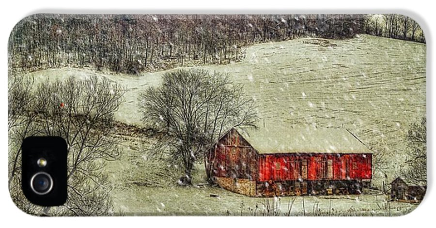 Red Barn IPhone 5 Case featuring the photograph Circa 1855 by Lois Bryan