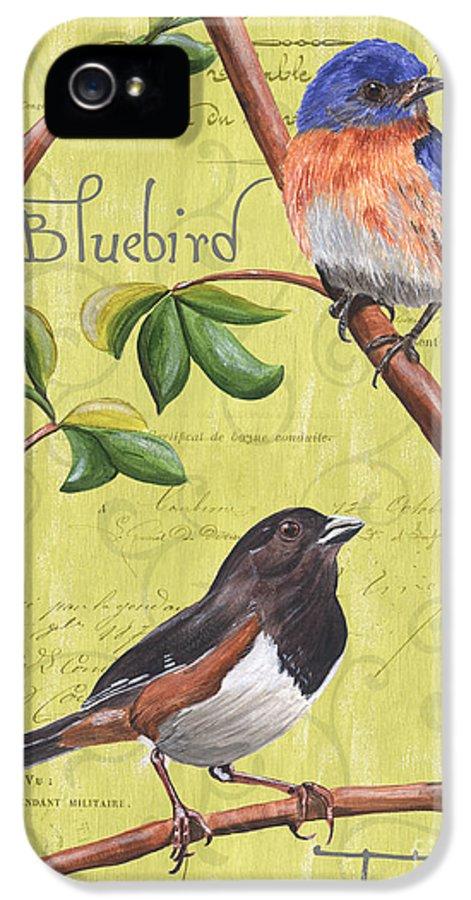 Bird IPhone 5 Case featuring the painting Citron Songbirds 1 by Debbie DeWitt