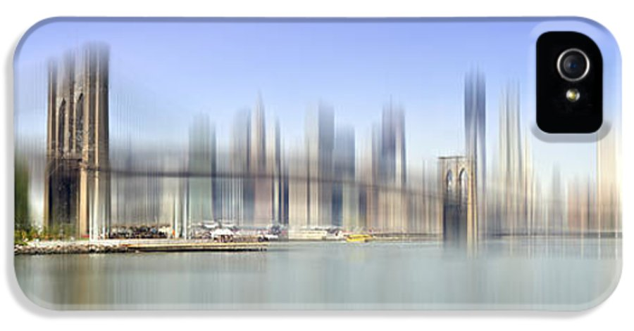 Distance IPhone 5 Case featuring the photograph City-art Manhattan Skyline I by Melanie Viola