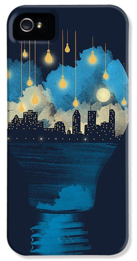 Surreal IPhone 5 Case featuring the digital art City Lights by Neelanjana Bandyopadhyay