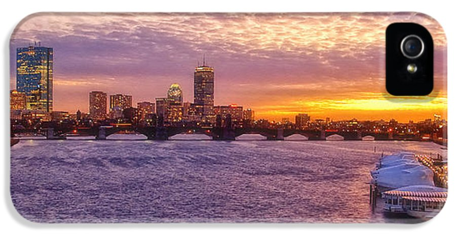 Boston IPhone 5 Case featuring the photograph City Nights by Joann Vitali