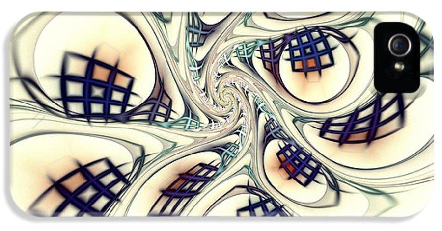 Computer IPhone 5 / 5s Case featuring the digital art City Vortex by Anastasiya Malakhova