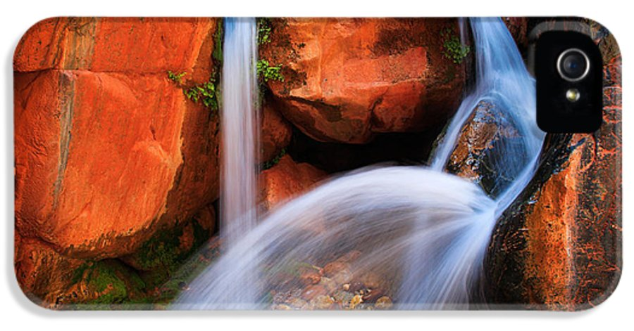America IPhone 5 Case featuring the photograph Clear Creek Falls by Inge Johnsson