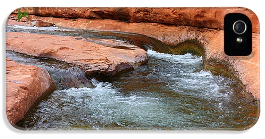 Sedona IPhone 5 Case featuring the photograph Clear Water At Slide Rock by Carol Groenen
