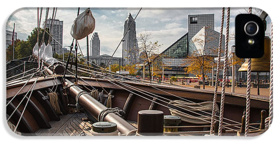 Cleveland Ohio IPhone 5 Case featuring the photograph Cleveland From The Deck Of The Peacemaker by Dale Kincaid
