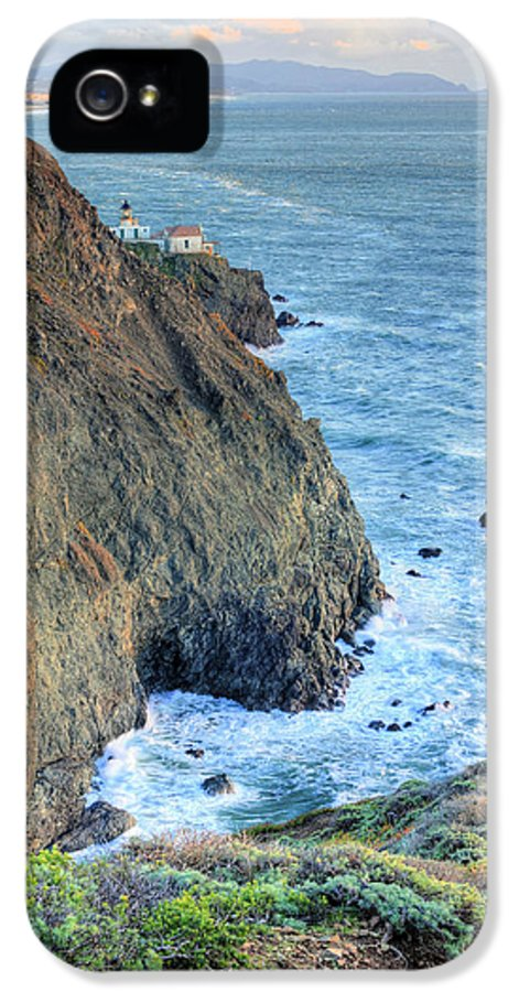 Bonita Point IPhone 5 Case featuring the photograph Cliffs by JC Findley
